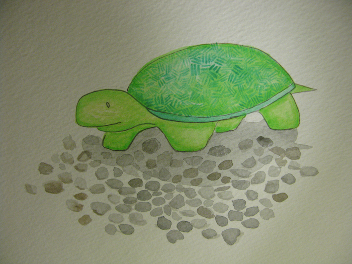 how to paint a turtle